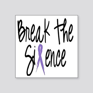 "Speak Out, ribbon Square Sticker 3"" x 3"""